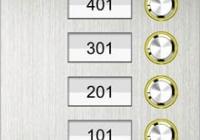 2315D-C * Panou de apel pentru 4 familii