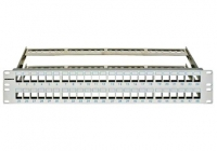 "HSER0480GS * Patchpanel pt. 48 module TOOLLESS LINE, 2UH, 19"", RAL7035"