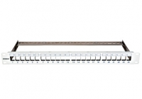 """HSER0240GS * Patchpanel pt. 24 module TOOLLESS LINE, 1UH, 19"""", RAL7035"""