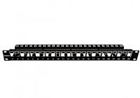 """HSER0240SP * Patchpanel 19"""" 24 porturi(SFA)(SFB) goale, 1UH, negru, scurt"""