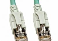 H6GSA03K0A * Patchcablu Cat6a cu LED ecranat RJ45 albastru-aqua 10GB 3m