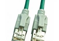 H6GSU00K5U * Patchcablu Cat6a cu LED ecranat RJ45 verde 10GB 0,5m