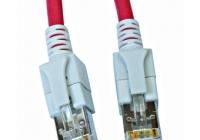 H6GSR05K0R * Patchcablu Cat6a cu LED ecranat RJ45 rosu 10GB 5m