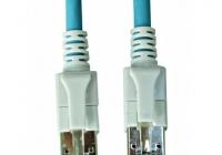 H6GSB00K5B * Patchcablu Cat6a cu LED ecranat RJ45 albastru 10GB 0,5m