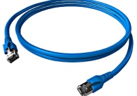 H6GTB00K5B * Patchcablu Cat.6a / 10GB ecranat RJ45, LS0H, albastru 0,5m