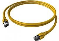 H6GTY10K0Y * Patchcablu Cat.6a/10GB ecranat RJ45, LS0H, galben 10m