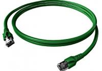 H6GTU01K0U * Patchcablu Cat.6a/10GB ecranat RJ45, LS0H, verde 1m