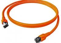 H6GTN00K5N * Patchcablu Cat.6a/10GB ecranat RJ45, LS0H, orange 0,5m