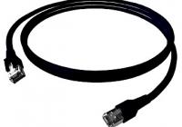 H6GTS00K5S * Patchcablu Cat.6a/10GB ecranat RJ45, LS0H, negru 0,5m
