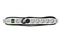 "IU070124-- * PDU 19"", 8xSchuko c-On/Off, profil ALU 1U, cablu 2m, RAL7035"