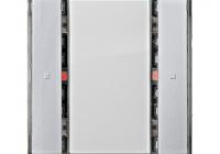 KX2212DB33 * Taster, 1 cale, aluminiu metalic, cu LED