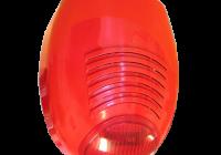 SR-136F * Sirena de incendiu de culoare rosie, autoprotejata, nivel acustic maxim 110 Db/1m