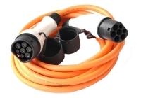 T22-3/16 * Cablu de incarcare pentru masini electrice de la 62196-2 (tip 2) la 62196-2 (tip 2), 11KW, 16A/380V trifazat lungime 5 m culoare portocaliu