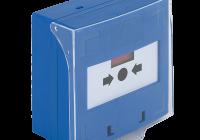 SCP-100-bl * Buton iesire de urgenta aplicabil, cu 3 comutatoare NC-COM-NO, din plastic, albastru