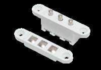 DORCAS-3C-wh * Contact mecanic tri-polar pentru alimentarea incuietorilor electrice montate pe foaia de usa