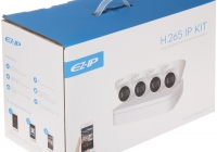 KIT-EZIP-4CT * KIT SUPRAVEGHERE IP 4 CAMERE DOME