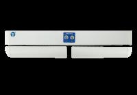 YB-500HD(LED) * Bolt electric dublu cu actiune electromagnetica, monitorizare, temporizare si LED de stare, alb