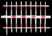 YK-BAR5-4M * Brat de bariera tip gard dublu, lungime 4m