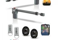 QK-E400KITFCC * Kit automatizare porti batante, max. 4m/ canat, 220Vca, cu opritoare mecanice interne - EON