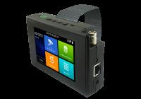 "T-1800ADH+ * Tester CCTV profesional de mana, cu ecran tactil de 4"" si cu sistem de operare Android"