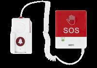 Y-FS2-WR-H * Buton de panica wireless, cablu spiralat si buton de apelare la mana
