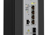 AT-IE200-6FP-80 * Managed Industrial switch with 2 x 100/1000 SFP, 4 x 10/100TX PoE+