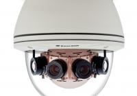 AV20185DN * Camera panoramica 20 MP, H.264, 180˚, 4x6.2mm MP Lens, IP66, IK-10, 12VDC / 24VAC / PoE