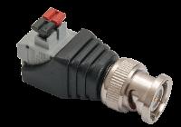 W-PC 102 * Conector BNCM cu terminal push BNCM-P