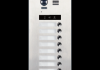 DMR21-S8 * Panou de apel video modular cu camera wide angle, 8 butoane de apel