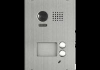 DT603DF * Panou video color de apel exterior, cu conexiune pe 2 fire, camera WIDE ANGLE 105°, pentru doi abonati