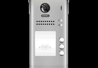 DT607-ID-S3 * Panou video color de apel exterior, cu conexiune pe 2 fire, camera WIDE ANGLE 170°, pentru trei abonati