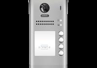 DT607-ID-S4 * Panou video color de apel exterior, cu conexiune pe 2 fire, camera WIDE ANGLE 170°, pentru patru abonati
