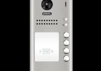 DT607F-ID-S4 * Panou video color de apel exterior, cu conexiune pe 2 fire, camera WIDE ANGLE 170°, pentru patru abonati