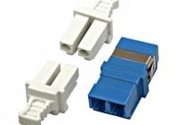 HMOL000104 * Cuplă FO LC-Duplex, Singlemode zirc, albastru