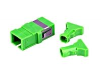 HMOL000107 * Cuplă SC/APC Simplex, Singlemode, fară flanşă, verde, ECO