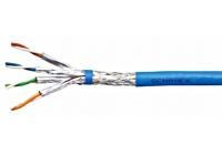 HSEKP423HP * Cablu S/FTP Cat.7, 4x2xAWG23/1, 1.000Mhz, LS0H,30%, albastru