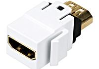 HSEMRHDMWS * Cuplă HDMI albă TOOLLESS LINE mamă-mamă