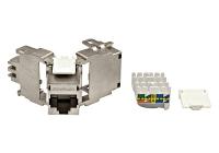 HSEMRJ6GWA * Modul RJ45 ecranat, Cat.6a, ISO/IEC 11801 AMD2, TOOLLESS LINE