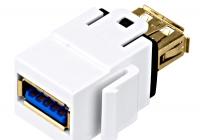 HSEMRU3AWS * Cuplă USB 3.0 A-A TOOLLESS LINE