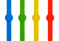 IDT-4009EM * Bratara de proximitate din silicon cu catarama metalica, cu cip EM4100 (125KHz)