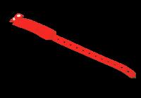 IDT-4010EM-RD * Bratara rosie RFID de unica folosinta cu cip EM 125kHZ