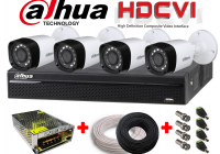 Kit video HDCVI 4 Canale