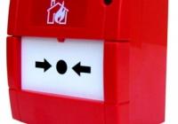 MCP1A-R * Buton conventional de alarmare, culoare rosie, cu geam, de interior