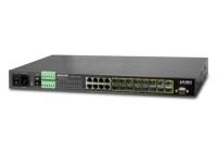 MGSW-24160F * L2+ 16-Port 100/1000BASE-X SFP + 8-Port 10/100/1000BASE-T Managed Metro Ethernet Switch