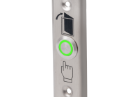 PBK-811A(LED)-gn/bl/rd * Buton de iesire cu LED, incastrabil, complet metalic