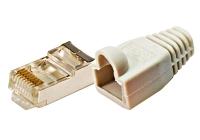 Q7151792 * Conector tată RJ45 STP cat5E cu manşon, 100 buc