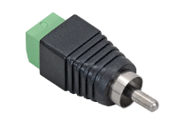 RCAM(P10) * Conector RCA male rapid, cu bloc terminal cu suruburi [10buc]