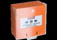 SCP-100-or * Buton iesire de urgenta cu 3 comutatoare NC-COM-NO, portocaliu