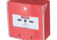 SCP-100-rd * Buton iesire de urgenta aplicabil, cu 3 comutatoare NC-COM-NO, din plastic, rosu