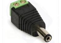 W-PC100 Conector cu mufa male, pentru camera video, terminal cu surub